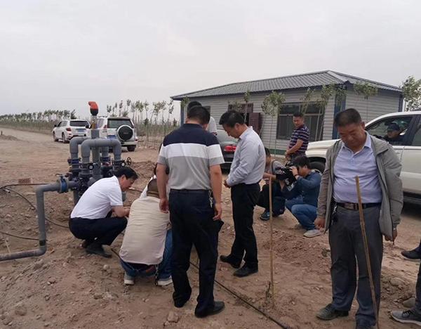 民乐县林业局苹果全自动水肥一体化项目示范田